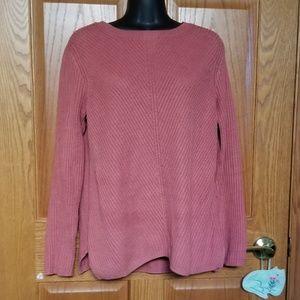 Talbots Mauve Oversize Cozy Sweater size Small